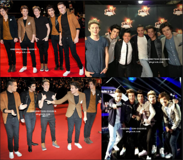 .  Les Garçons étaient au NRJ Music Awards 2013 .