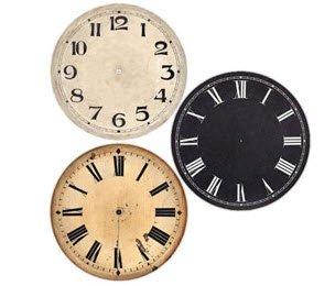 Large metal clock dials
