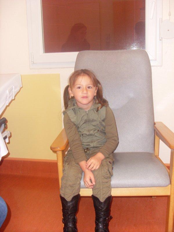 ma fille le jour de son opération
