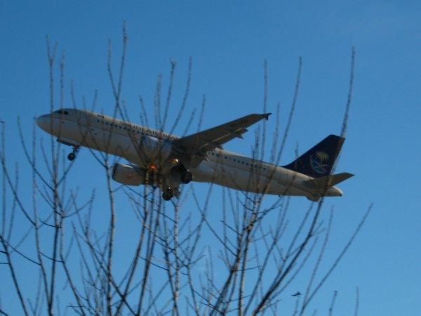 Un avion dans le ciel....