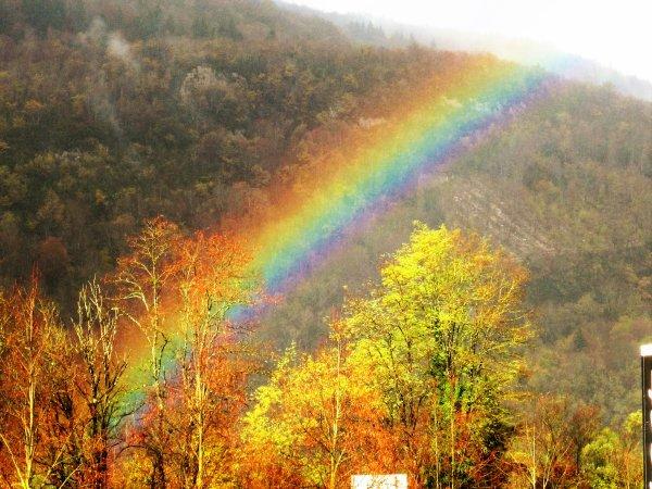 Arc-en-ciel...automne est de tout beauté...