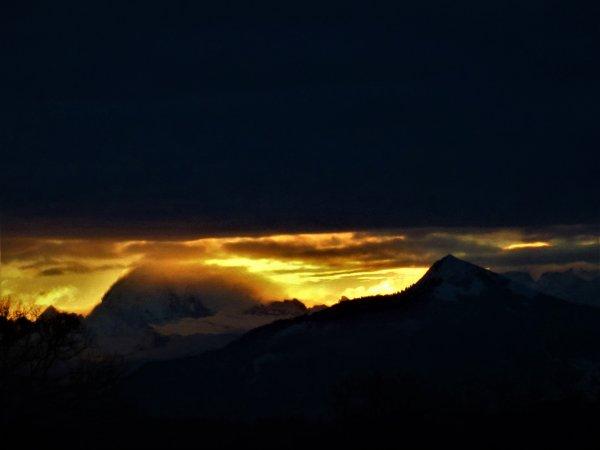 La belle vue sur les Alpes....de chez moi....