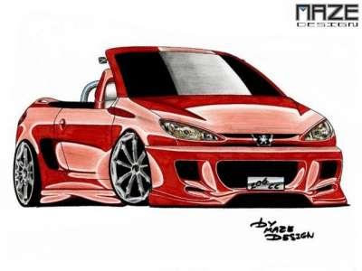 Peugeot 206 tuning voitures de ouf belles caisses voiture - Dessin tuning ...