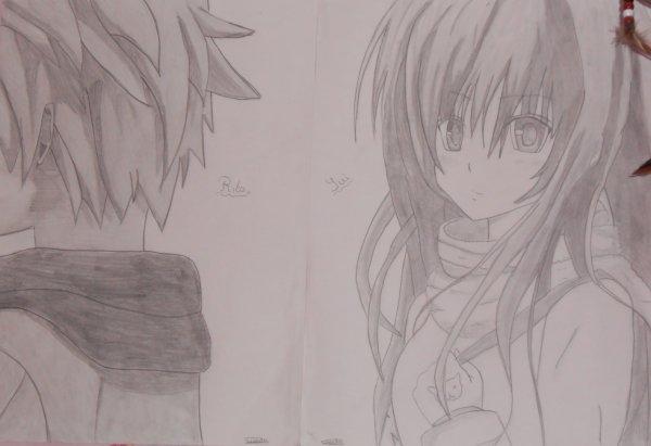 Mon dessin de Yui et Rito ♥