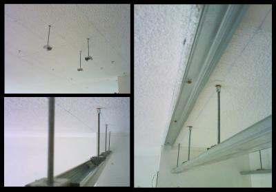 R alisation du plafond suspendu 1 2 loliv 39 s little life - Faux plafond tige filetee ...