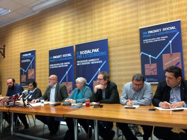 """OGBL, """"Un paquet social pour le Luxembourg."""" campagne lancé"""