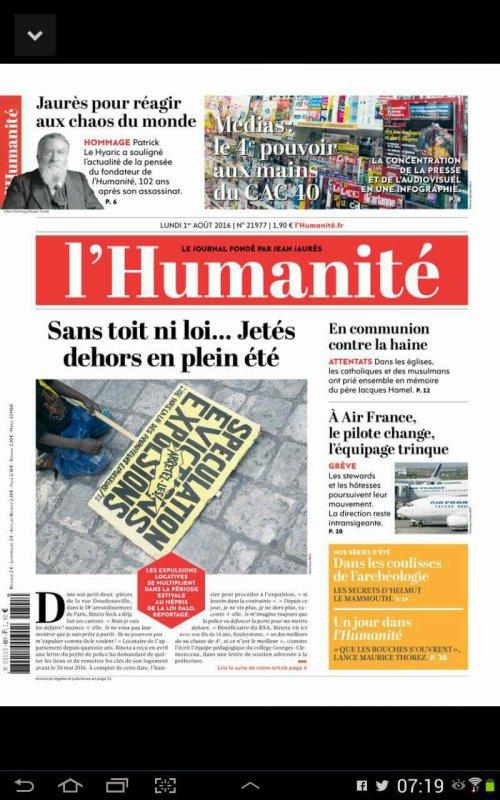 """L'Edito L'Huma du jour : """"Eh non! Ça ne va pas mieux"""""""