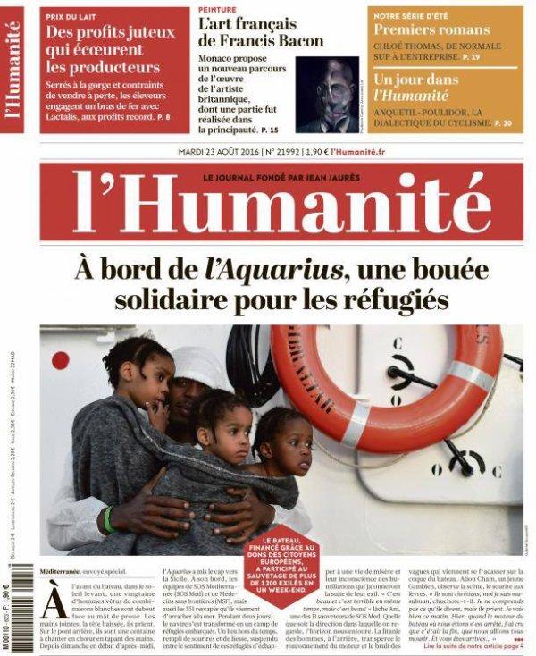 """L'Edito L'Huma du jour : """"L'Europe de la lâcheté"""""""