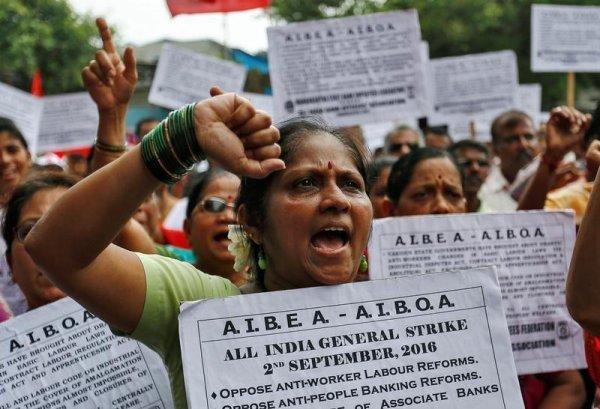 Inde. 150 millions d'Indiens dans la rue contre la loi travail