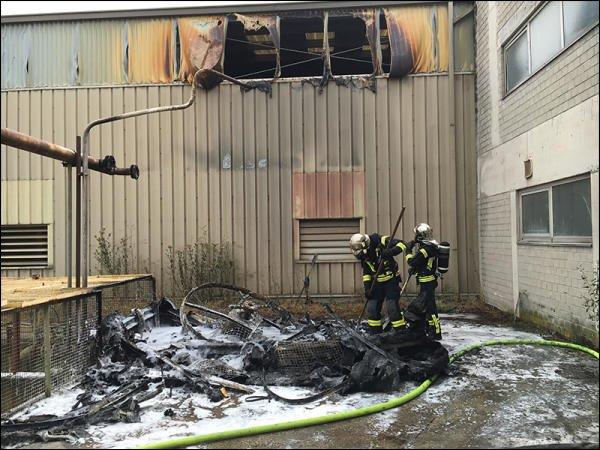 Un bâtiment industriel touché par un incendie   BETTEMBOURG
