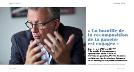 Pierre Laurent : « La bataille de la recomposition de la gauche est engagée »