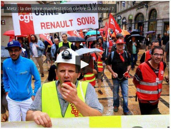 VIDEO. Metz : la dernière manifestation contre la loi travail ? RL