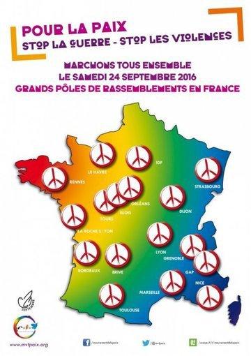 Exprimons notre volonté de vivre en Paix dans un monde de solidarité, de justice, de fraternité