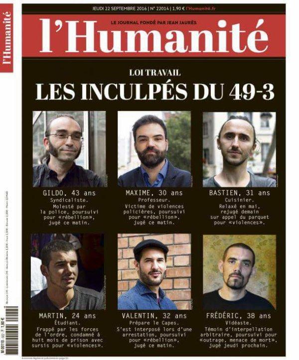 "L'Edito L'Huma du jour : ""L'injustice signale la crainte"""