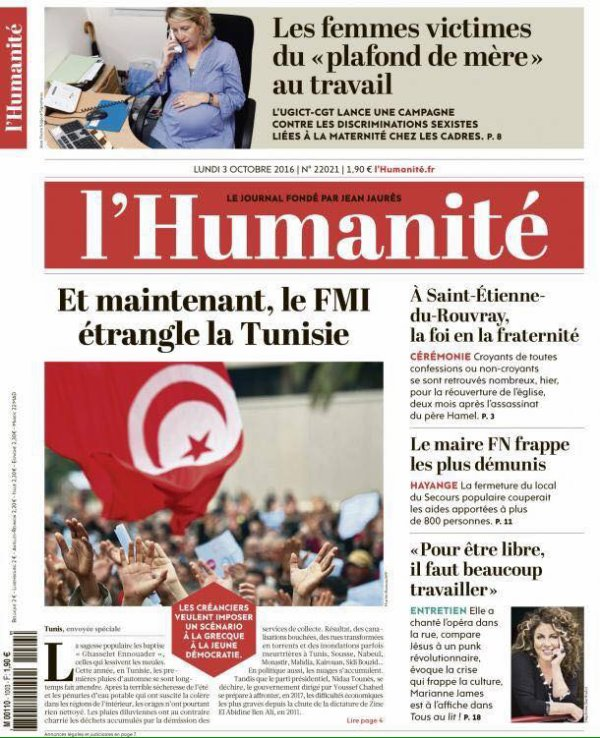Et maintenant, le FMI étrangle la Tunisie