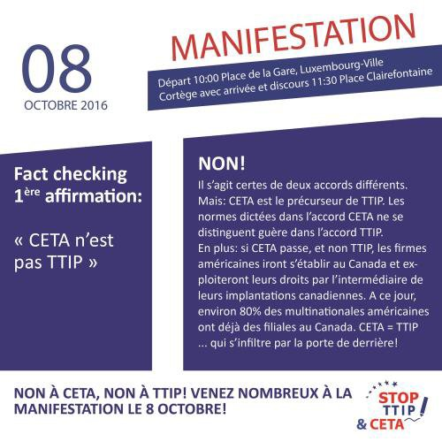 Fact checking... Manifestation Luxembourg Ville 8 octobre