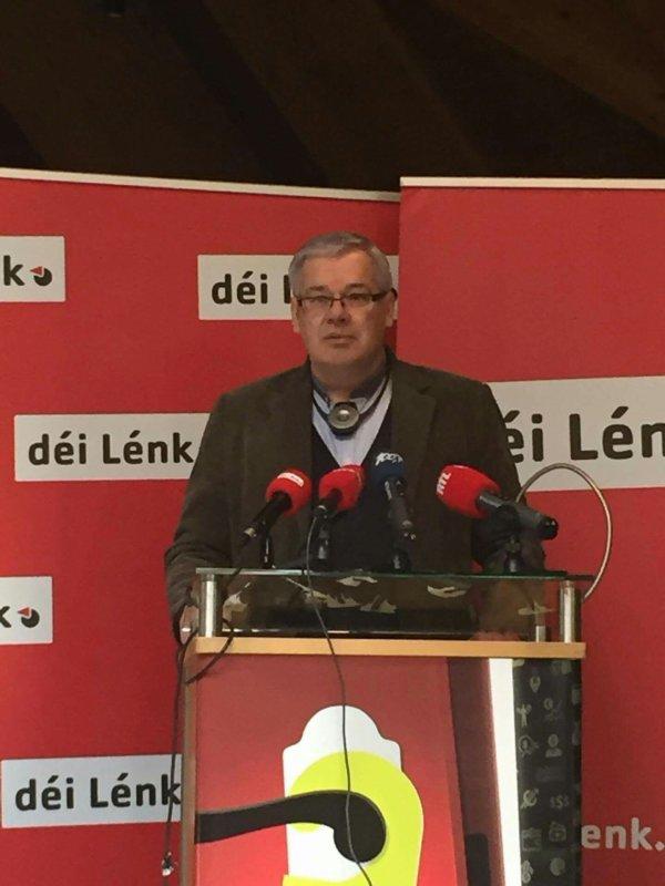 """Déi Lénk-la Gauche luxembourgeoise présente à la manif du 8octobre """"Plus que jamais : Non à TTIP et CETA!"""""""