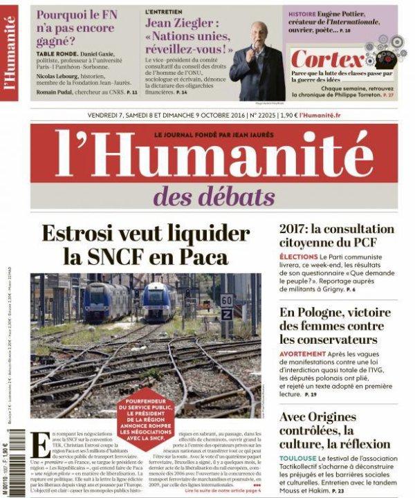 """L'Edito L'Huma du jour : """"Un train peut en cacher un autre"""""""