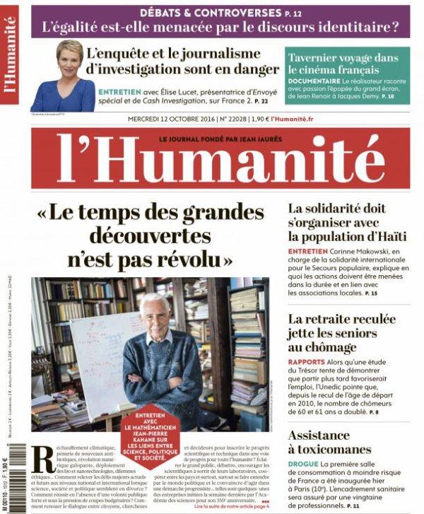 """L'Edito L'Huma du jour : """"Choc de dignité!"""""""