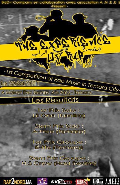 """Les Résultats Du Compétition """" The Expérience Of Rap """" : 1er Prix Solo : Lil One (Kenitra)"""