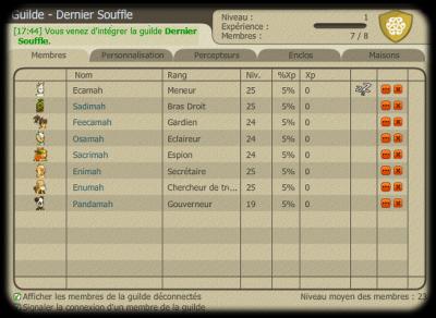 Une guilde, Dernier Souffle