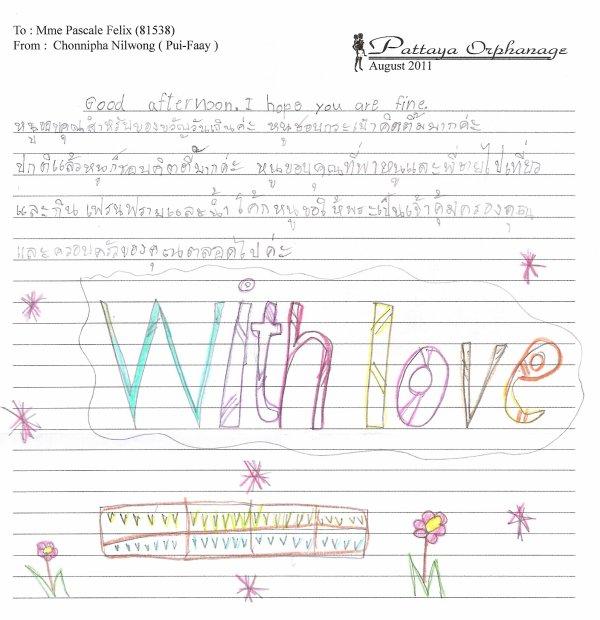 Pui Faay m'a écrit....