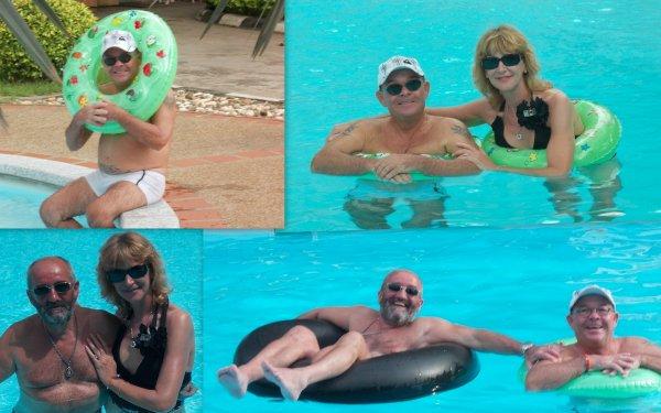1ère journée...Cool au bord de la piscine