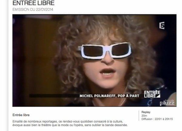 """France 5, émission """" Entrée Libre """" du 22 janvier"""