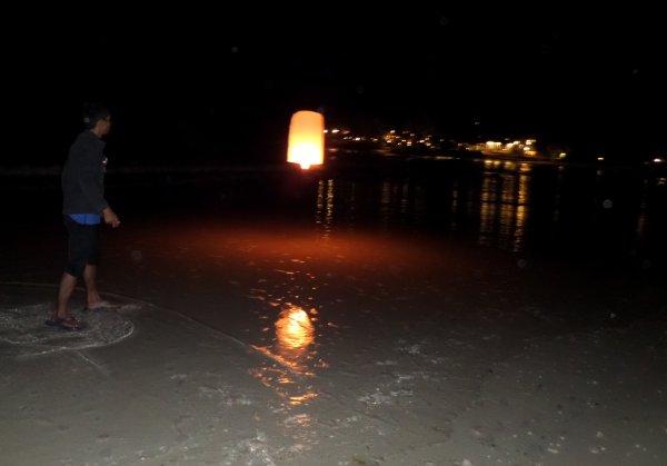 Lâcher de lanterne céleste