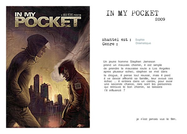 filmographie: information: in my pocket