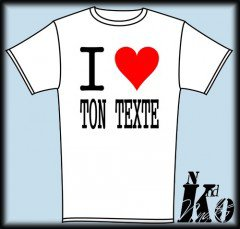 T-Shirt Homme - I LOVE Perso