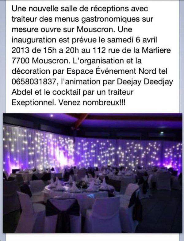 Inauguration ce samedi 6 avril décoré par Espace Evénement Nord.