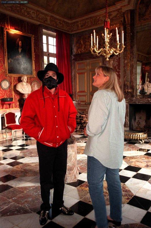 Michael en visite dans un château français