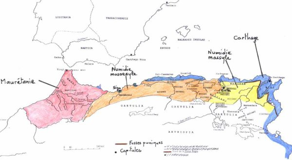 carte du royaum berbere