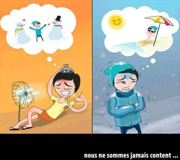 Nous ne sommes jamais content. !–Is True *