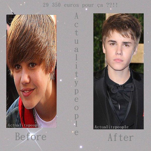 ~ Justin Bieber : ses cheveux valent de l'OR !