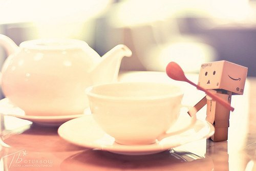 Danbo boit du thé