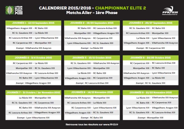 LER XIII – Le calendrier de la 1ère phase dévoilé