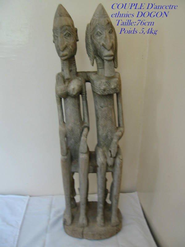 COUPLE D'ancetre DOGON MALI