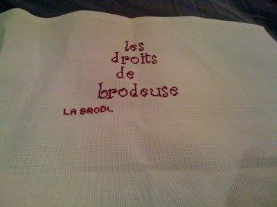 Les droits de la Brodeuse !