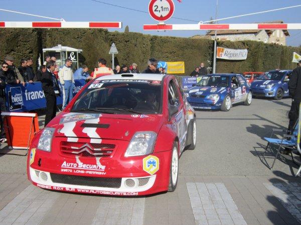 résumé week end au rallye de Vaison la Romaine