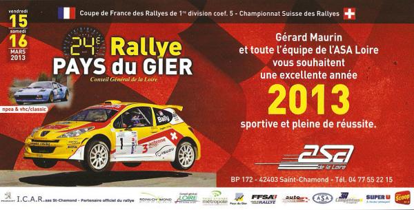 Rallye du Pays du Gier 15-16 mars
