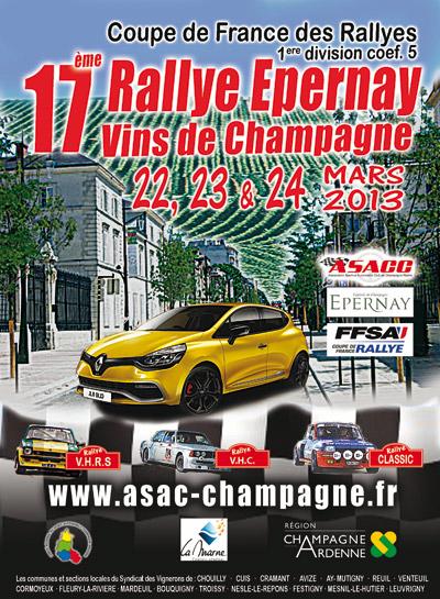 rallye Epernay Vins de Champagne 22/24 mars