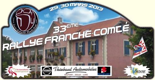 Liste des engagés du rallye de Franche Comté 30 mars