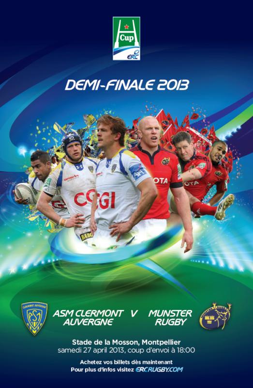 Clermont - Munster 1/2 finale de H'Cup 27 avril