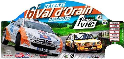 liste des engagés du rallye du Val d'Orain 18/19 mai