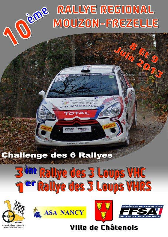 Rallye du Mouzon - Frézelle 8 - 9 juin 'liste des engagés'