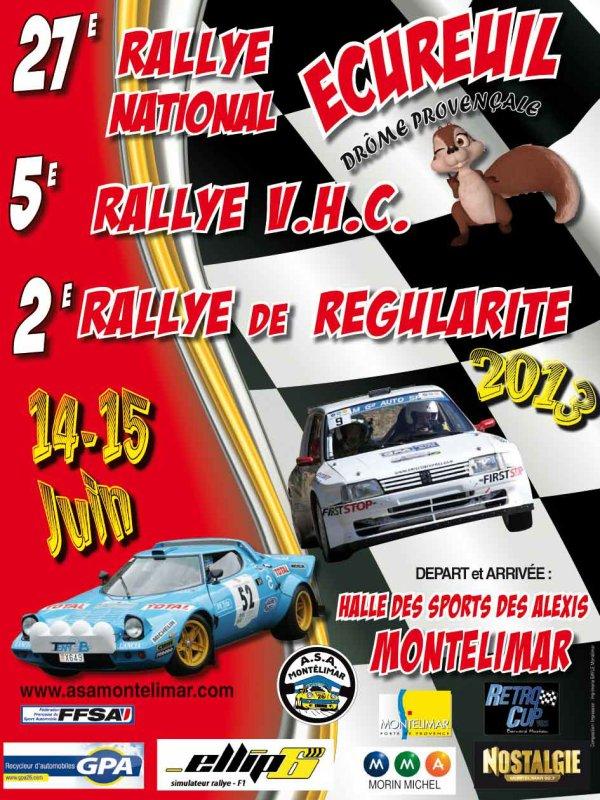 Liste des engagés du rallye de l'Ecureuil - Dôme Provencal du 14/15 juin