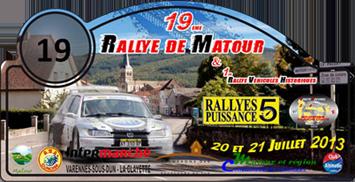 liste des engagés du rallye de Matour 20 et 21 juillet