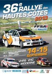 liste des engagés du rallye des Hautes Côtes 14/15 septembre